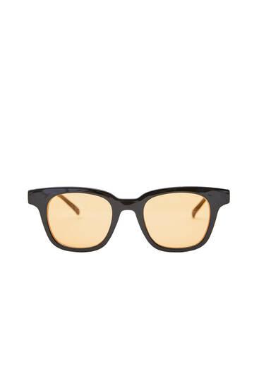 Yellow lens sunglasses