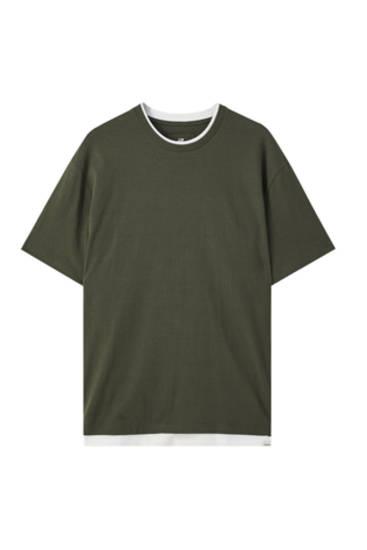 Μπλούζα basic με διπλό τελείωμα