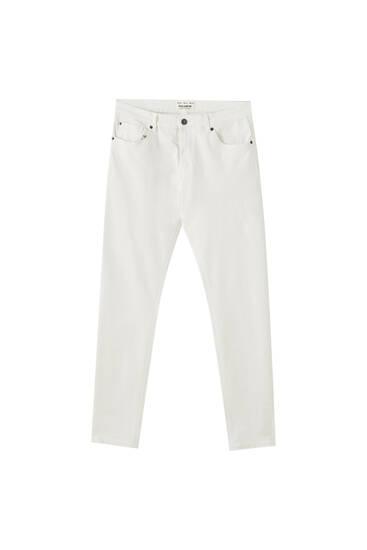 Basic white super skinny jeans
