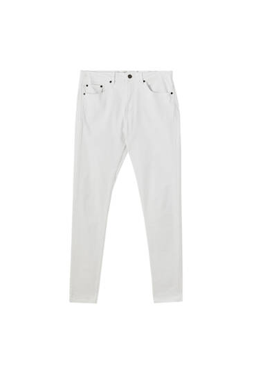 White slim comfort fit jeans