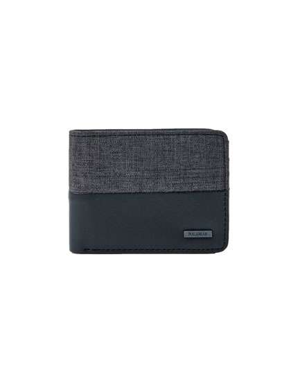 Grey and black panelled wallet