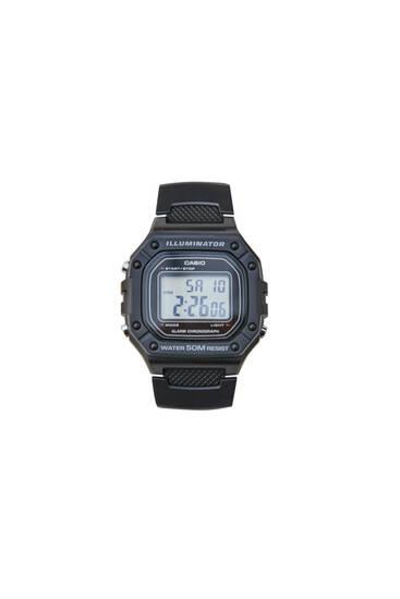 Black Casio W-218H-1AVEF digital watch