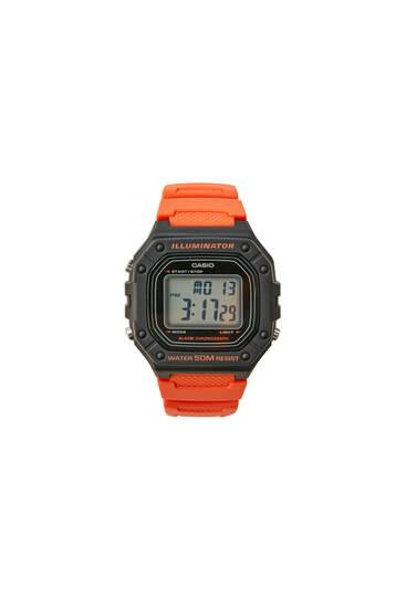 Reloj digital Casio W-218H-4B2VEF naranja