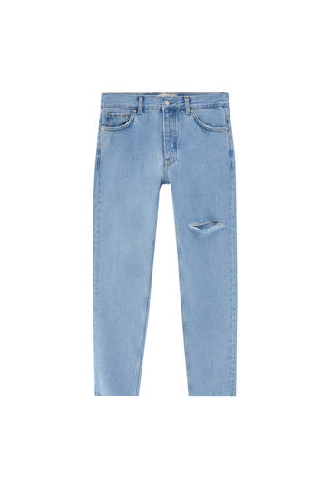 Ripped standard fit jeans