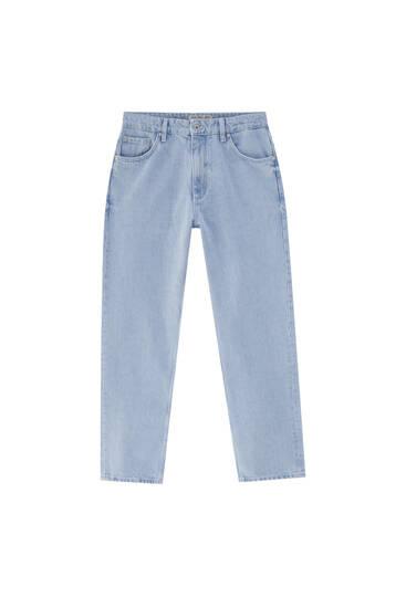 Τζιν παντελόνι basic με φαρδύ μπατζάκι