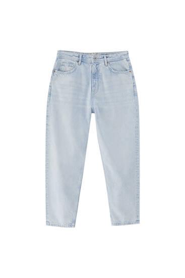 Premium fabric loose fit jeans