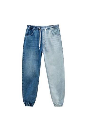 Colour block jogger jeans