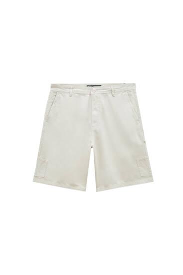 Multi-pocket carpenter Bermuda shorts