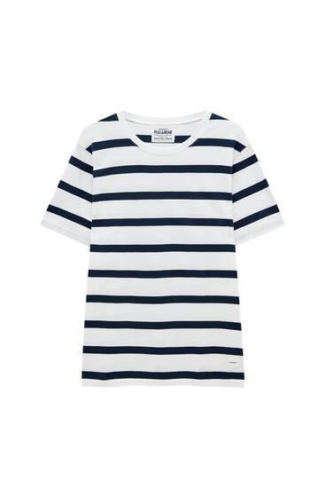 Majica sa dezenom kontrastnih pruga