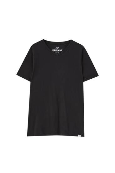 Basic coloured V-neck T-shirt