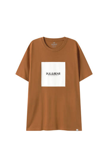 Basic T-shirt with a square logo