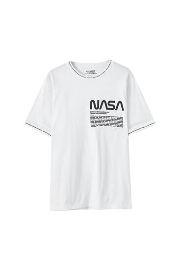 NASA-T-shirt i rib med slogan