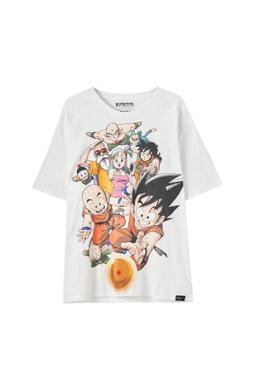 White Dragon Ball characters T-shirt