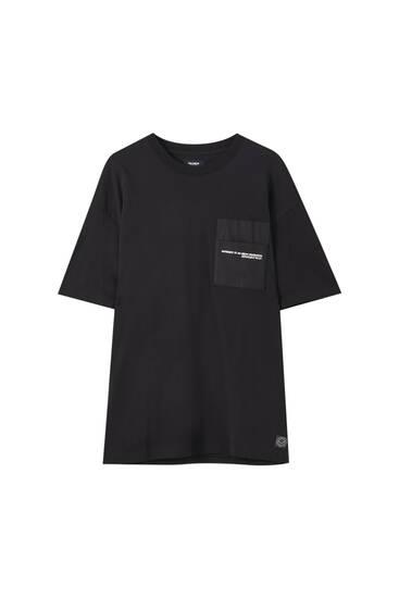 T-shirt premium poche inscription