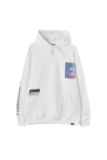White STWD world hoodie