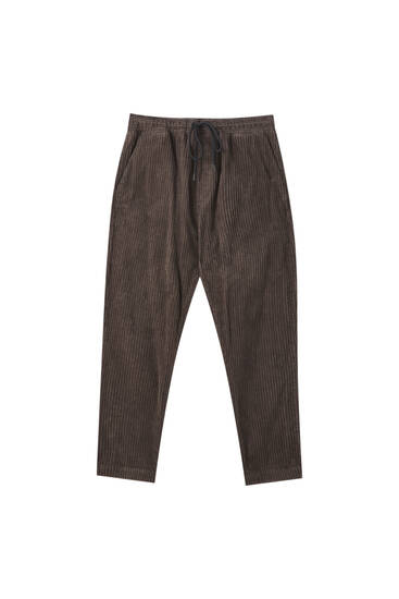 Brown corduroy joggers