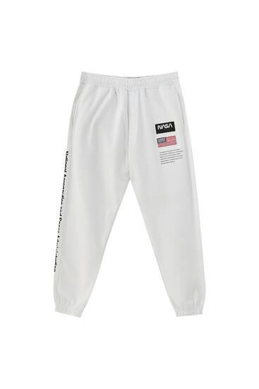 NASA flag print jogging trousers