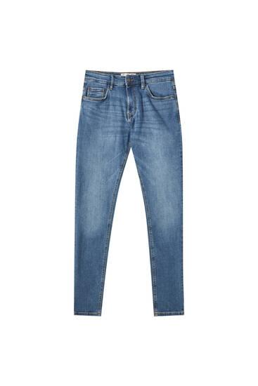 Τζιν παντελόνι skinny fit σε πράσινο-μπλε χρώμα