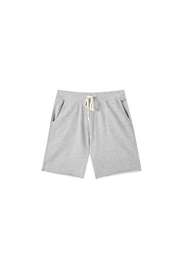 Basic colourful jogging Bermuda shorts