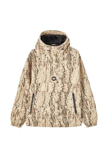 Zipped anorak jacket with logo