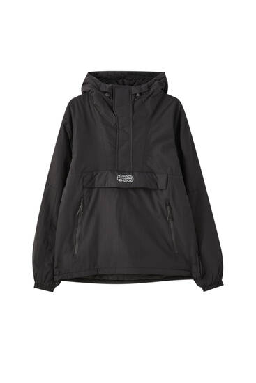 Zipped anorak jacket with logo