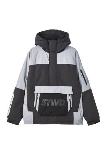 Τζάκετ hoodie STWD με αντίθετο συνδυασμό