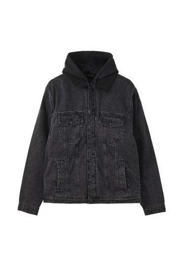 Oversize denim jacket with contrast details