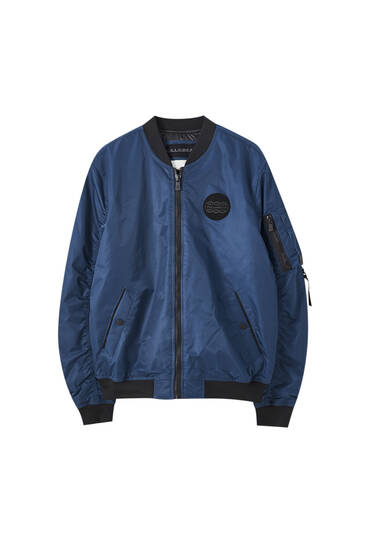 Basic bomber jacket with logo