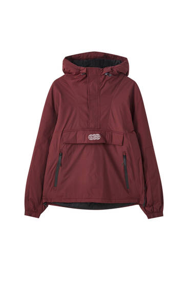 Anorak jacket with front logo