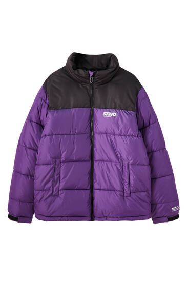 Contrasting STWD puffer jacket
