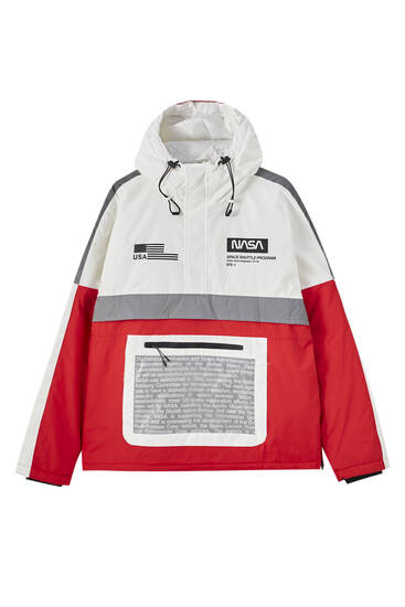 Red NASA anorak