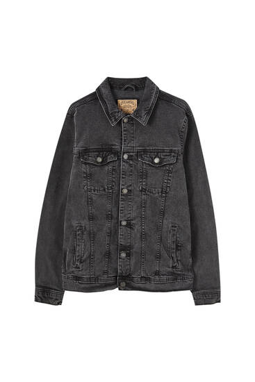 Faded comfort fit denim jacket