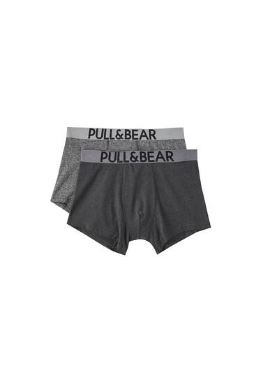 Two-pack of grey boxers