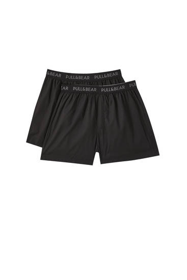 2-pack of poplin boxers with elastic waistband