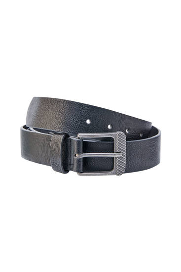 Basic faux leather belt
