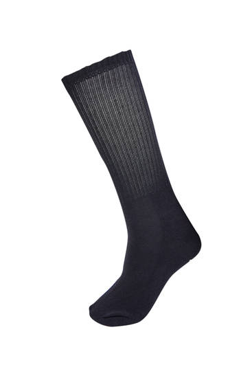 Black sports socks with contrast logo