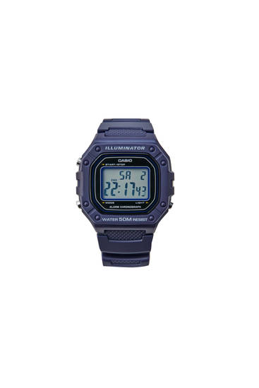 Blue Casio W-218H-2AVEF digital watch