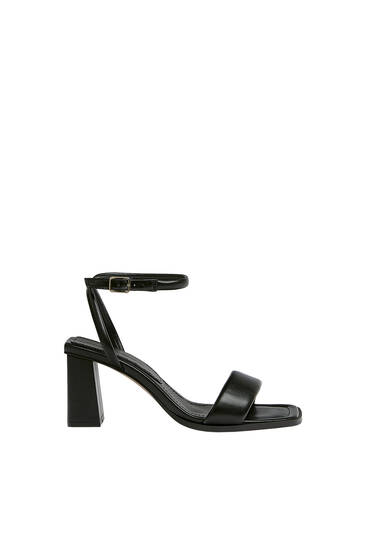 Padded heeled sandals