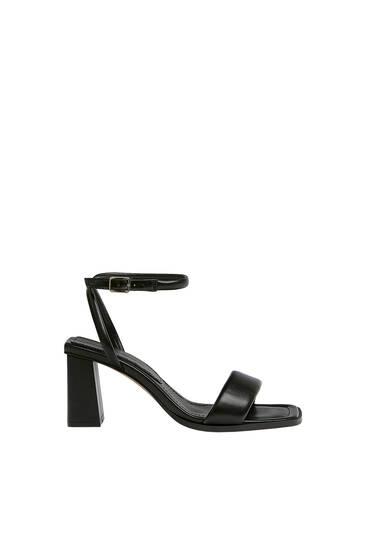 Prošivene sandale sa štiklom