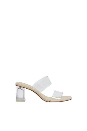 Sandale od vinila sa štiklom