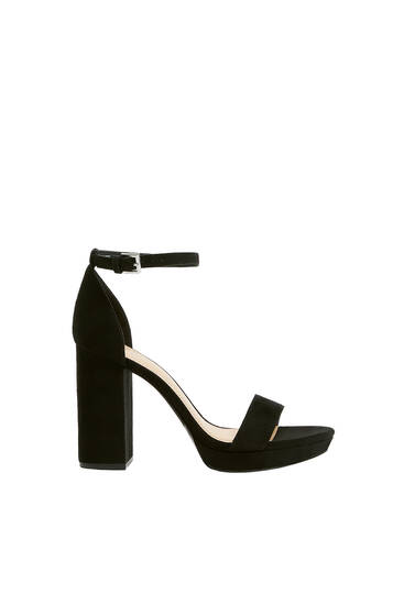 Black high-heel sandals