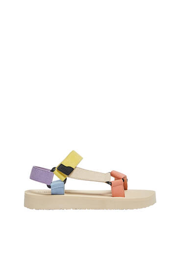 Multicoloured sporty sandals