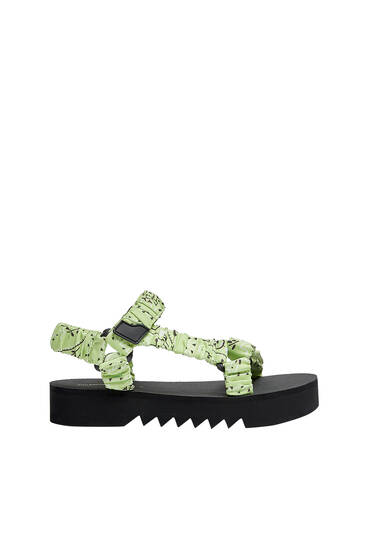 Printed sporty sandals