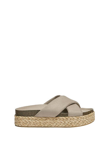 Criss-cross jute wedges