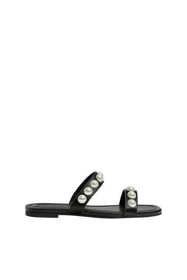 Sandale sa veštačkim biserima