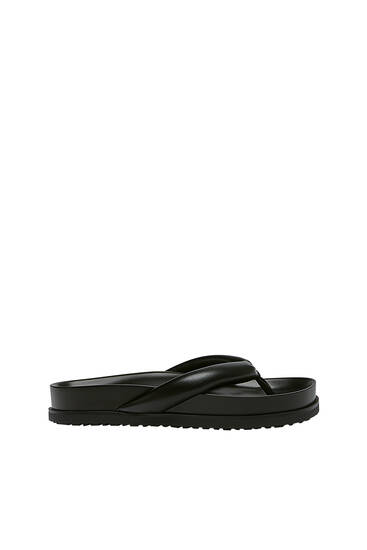 Padded flat sandals