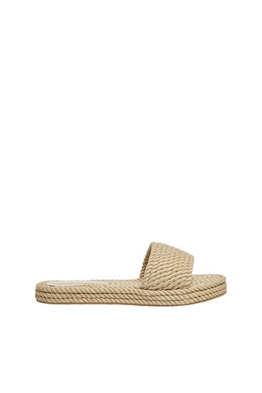 Flat sandals with cord detail