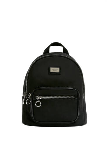 Backpack with zip pull ring