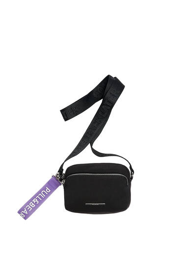 Nylon mini crossbody bag with logo