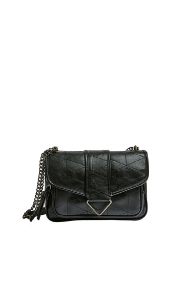 Crossbody bag with topstitching detail